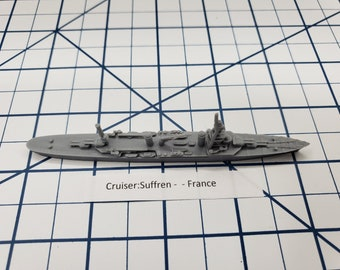 Cruiser - Suffren- French Navy - Wargaming - Axis and Allies - Naval Miniature - Victory at Sea - Tabletop Games - Warships