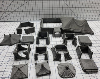Empire of Scorching Sands - Tents - DND - Dungeons & Dragons - RPG - Tabletop - EC3D - Miniature - 28 mm