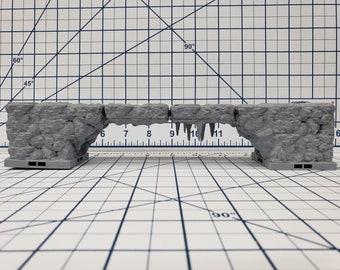"Caverns - Bridge - DragonLock - DND - Pathfinder - RPG - Dungeon & Dragons - 28 mm / 1"" - Terrain - Fat Dragon Games"