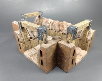 Mine Wall Deluxe Set 60 Pieces! - OpenLock or DragonLock - Openforge - DND - Pathfinder - Dungeons & Dragons - RPG - Tabletop - 28 mm / 1""