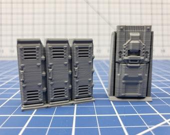 Storage Lockers - Ignis Quadrant - Starfinder - Cyberpunk - Science Fiction - Syfy - RPG - Tabletop - Scatter - Terrain