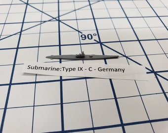 Submarine - Type IX C- German Navy - Wargaming - Axis and Allies - Naval Miniature - Victory at Sea - Tabletop Games - Warships