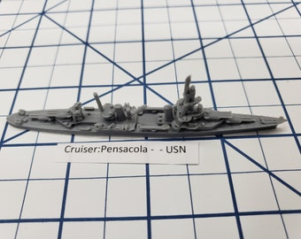 Cruiser - Pensacola - USN - Wargaming - Axis and Allies - Naval Miniature - Victory at Sea - Tabletop Games - Warships