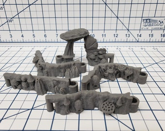 "DungeonSticks - Mushroom Grove Style - DND - Pathfinder - Dungeons & Dragons - Terrain - RPG - Tabletop - 28 mm / 1"""