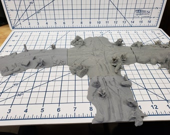 Dirt Road Terrain Pieces  - OpenLock - DND - Pathfinder - Dungeons & Dragons - Warhammer - RPG - Tabletop - 28 mm / 1""
