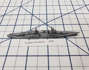 Cruiser - Portland - USN - Wargaming - Axis and Allies - Naval Miniature - Victory at Sea - Tabletop Games - Warships