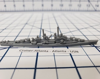 Cruiser - USS Atlanta - USN - Wargaming - Axis and Allies - Naval Miniature - Victory at Sea - Tabletop Games - Warships