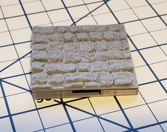 Street Cobble Square Floor Tiles - OpenLock or DragonLock - Openforge - DND - Pathfinder - Dungeons & Dragons - RPG - Tabletop - 28 mm / 1""
