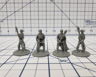 "Skeleton Miniatures Sets - DND - Pathfinder - RPG - Dungeon & Dragons - Miniature - Mini - 28 mm / 1"" - Fat Dragon Games"