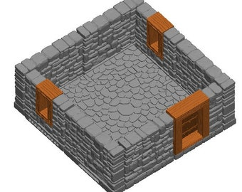 "Small House/Manor Sets - Dragonshire - DragonLock - Fat Dragon Games - DND - Pathfinder - RPG - Terrain - 28 mm / 1"" - Dungeon & Dragons"