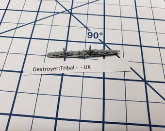 Destroyer - Tribal Class - Royal Navy - Wargaming - Axis and Allies - Naval Miniature - Victory at Sea - Tabletop Games - Warships