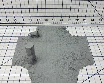"Badland Road Terrain Pieces  - OpenLock - DND - Pathfinder - Dungeons & Dragons - Warhammer - RPG - Tabletop - 28 mm/ 1"" - Road to Adventure"
