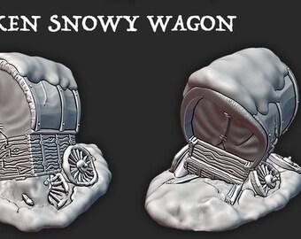 The Wilds of Wintertide - Broken Down Wagon - Hero's Hoard - DND - Pathfinder - Dungeons & Dragons - RPG - Tabletop - EC3D - Terrain