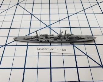 Cruiser - Perth - Royal Navy - Wargaming - Axis and Allies - Naval Miniature - Victory at Sea - Tabletop Games - Warships