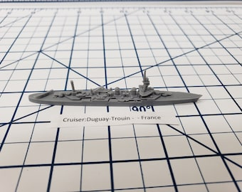 Cruiser - Duguay-Trouin - French Navy - Wargaming - Axis and Allies - Naval Miniature - Victory at Sea - Tabletop Games - Warships