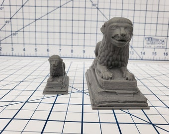 Lion Statue - OpenForge - DND - Pathfinder - RPG - Dungeon & Dragons - Tabletop - Terrain