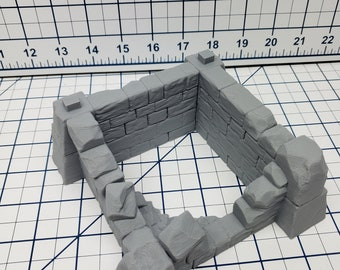 Castle Tower Ruins - DND - Dungeons & Dragons - RPG - Pathfinder - Tabletop - TTRPG - Devious Games - 28 mm