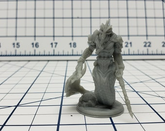 Merrow Mini - Savage Atoll - Hero's Hoard - DND - Pathfinder - Dungeons & Dragons - RPG - Tabletop - EC3D - Miniature