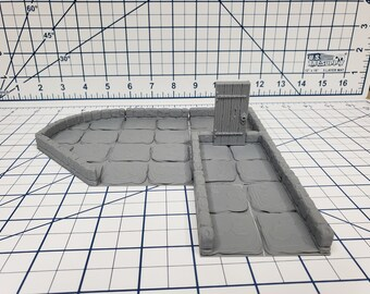 "True Tiles - Dungeon Stone Starter Set 50 Tiles! - OpenLock - DND - Pathfinder - Dungeons & Dragons - Terrain - RPG - Tabletop - 28 mm / 1"""