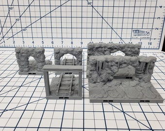 "Caverns - Entrances - DragonLock - DND - Pathfinder - RPG - Dungeon & Dragons - 28 mm / 1"" - Terrain - Fat Dragon Games"