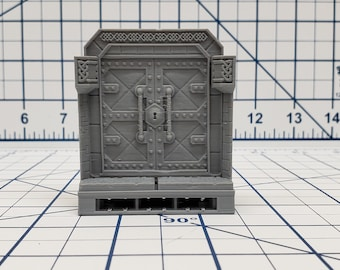 Dwarven Hall Door Tile - OpenLock or DragonLock - Openforge - DND - Pathfinder - Dungeons & Dragons - RPG - Tabletop - 28 mm / 1""
