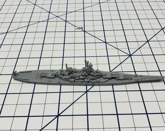 Battleship - Iowa Class - US Navy - Wargaming - Axis and Allies - Naval Miniature - Victory at Sea - Tabletop Games - Warships