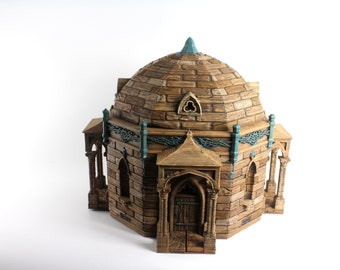 "OpenForge Morehead Mausoleum - Tabletop - DND - Pathfinder - RPG - 28 mm / 1"" - Terrain - Dungeons & Dragons - Warhammer"