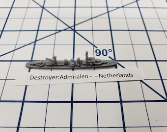 Destroyer - Admiralen Class - Netherlands - Wargaming - Axis and Allies - Naval Miniature - Victory at Sea - Tabletop Games - Warships