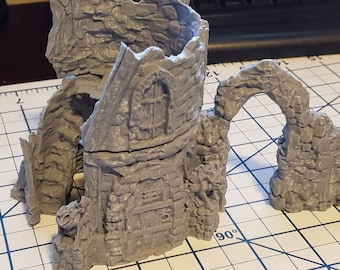 The Wilds of Wintertide Ruins - Tower Ruins - Hero's Hoard - DND - Pathfinder - Dungeons & Dragons - RPG - Tabletop - EC3D - Terrain