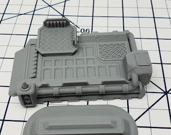 Hover Platform - Ignis Quadrant - Starfinder - Cyberpunk - Science Fiction - Syfy - RPG - Tabletop - EC3D - Scatter - Terrain