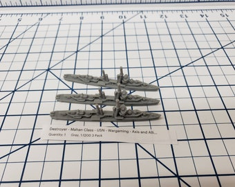Destroyer - Mahan Class - USN - Wargaming - Axis and Allies - Naval Miniature - Victory at Sea - Tabletop Games - Warships
