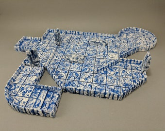 "True Tiles - Ice Tiles Extreme Set 150 Tiles! - OpenLock - DND - Pathfinder - Dungeons & Dragons - Terrain - RPG - Tabletop - 28 mm / 1"""