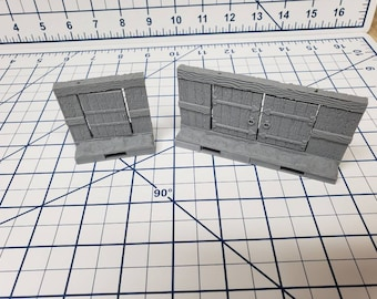 Mine Wall Doors - OpenLock or DragonLock - Openforge - DND - Pathfinder - Dungeons & Dragons - RPG - Tabletop - 28 mm / 1""