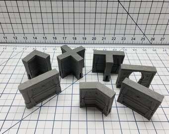 Empire of Scorching Sands - Curtained Palace Walls - DND - Dungeons & Dragons - RPG - Tabletop - EC3D - Miniature - 28 mm