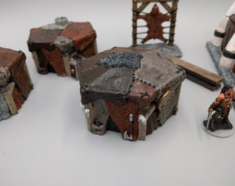 Tent Set of the Hero's Hoard Barbarian Village - DND - Pathfinder - Dungeons & Dragons - RPG - Tabletop - EC3D - Terrain