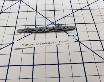 Destroyer - Le Fantasque Class - French Navy - Wargaming - Axis and Allies - Naval Miniature - Victory at Sea - Tabletop Games - Warships