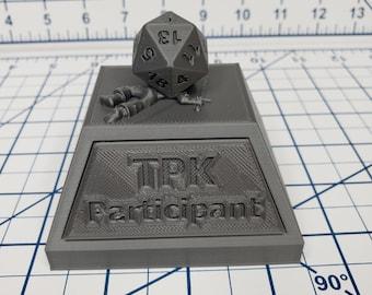 TPK Trophy - Hero's Hoard - DND - Pathfinder - Dungeons & Dragons - RPG - Tabletop - EC3D