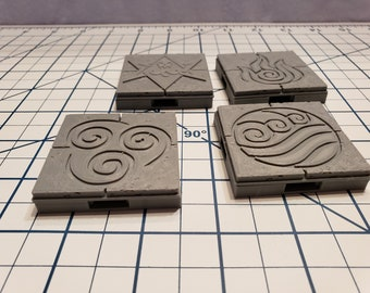 Cut Stone Floor Encounter Tile - OpenLock or DragonLock - Openforge - DND - Pathfinder - Dungeons & Dragons - RPG - Tabletop - 28 mm / 1""