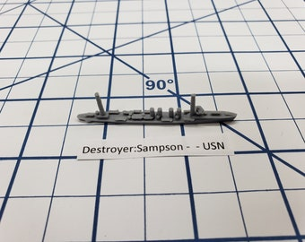 Destroyer - Sampson Class - USN - Wargaming - Axis and Allies - Naval Miniature - Victory at Sea - Tabletop Games - Warships