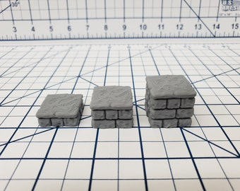 "Dungeon Stone - Pedestal Set - Fat Dragon Games - DND - Pathfinder - RPG - Terrain - 28 mm / 1"" - Dungeon & Dragons - Warhammer"