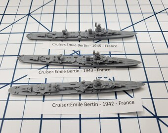 Cruiser - Emile Bertin - French Navy - Wargaming - Axis and Allies - Naval Miniature - Victory at Sea - Tabletop Games - Warships