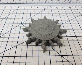 Empire of Scorching Sands - Sun Medallion - Hero's Hoard - DND - Pathfinder - Dungeons & Dragons - RPG - Prop - Tabletop - EC3D