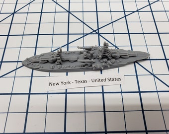 Battleship - Texas - US Navy - Wargaming - Axis and Allies - Naval Miniature - Victory at Sea - Tabletop Games - Warships