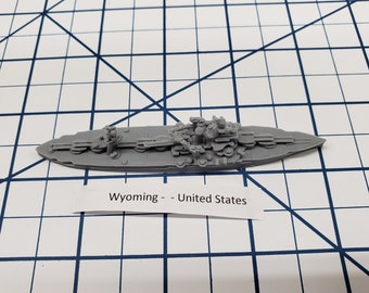 Battleship - Wyoming - US Navy - Wargaming - Axis and Allies - Naval Miniature - Victory at Sea - Tabletop Games - Warships