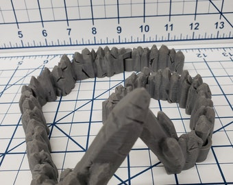 "DungeonSticks - Jagged Caverns Rocky Starter Set 25 Tiles! - DND - Pathfinder - Dungeons & Dragons - Terrain - RPG - Tabletop - 28 mm / 1"""