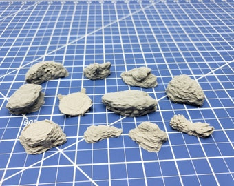 Canyon/Asteroid Scatter - Starfinder - Cyberpunk - Science Fiction - Syfy - RPG - Tabletop - Scatter - Terrain