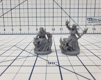 """Wilds of Wintertide - Ice Witches Minis - DND - Pathfinder - Dungeons & Dragons - RPG - Tabletop - EC3D - 28 mm - 1"""""""