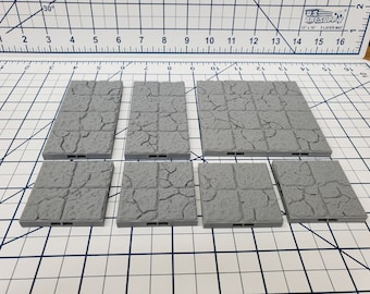 "Dungeon Style - Ruined Floor Tiles - DragonLock - DND - Pathfinder - RPG - Dungeon & Dragons - 28 mm / 1"" - Terrain - Fat Dragon Games"