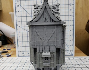 "3 Story House - DND - Pathfinder - Dungeons & Dragons - RPG - Tabletop - Terrain - 28 mm / 1"" - Warhammer - Gamescape3d"