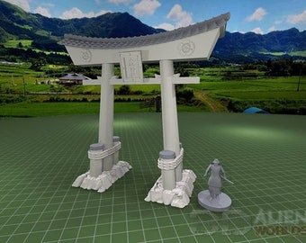 """Samurai Tori Gates - DND - Pathfinder - Dungeons & Dragons - Warhammer - Test of Honour - RPG - Tabletop - 28 mm / 1"""""""